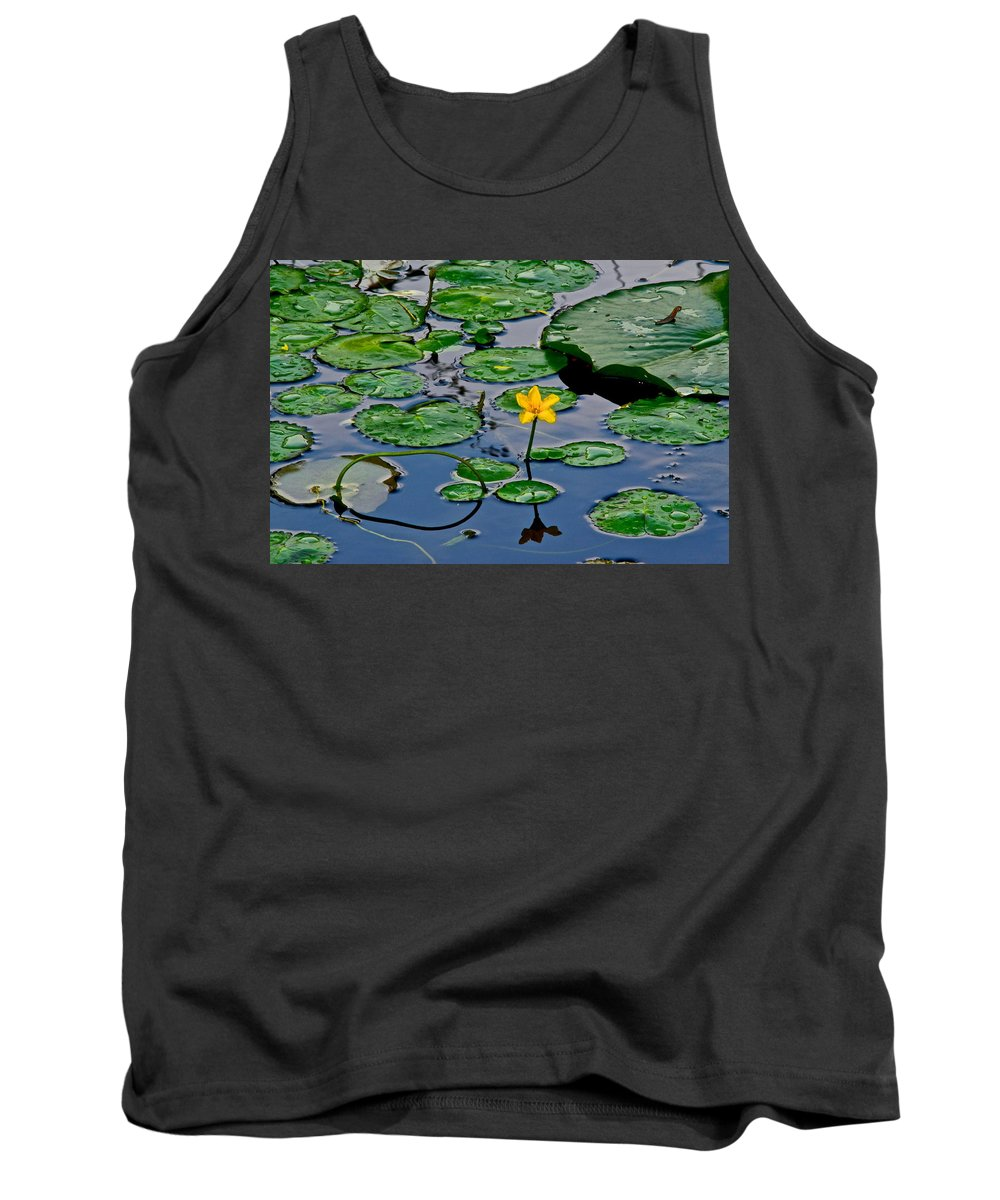 Lilly Tank Top featuring the photograph Lilly Pad Pond by Frozen in Time Fine Art Photography
