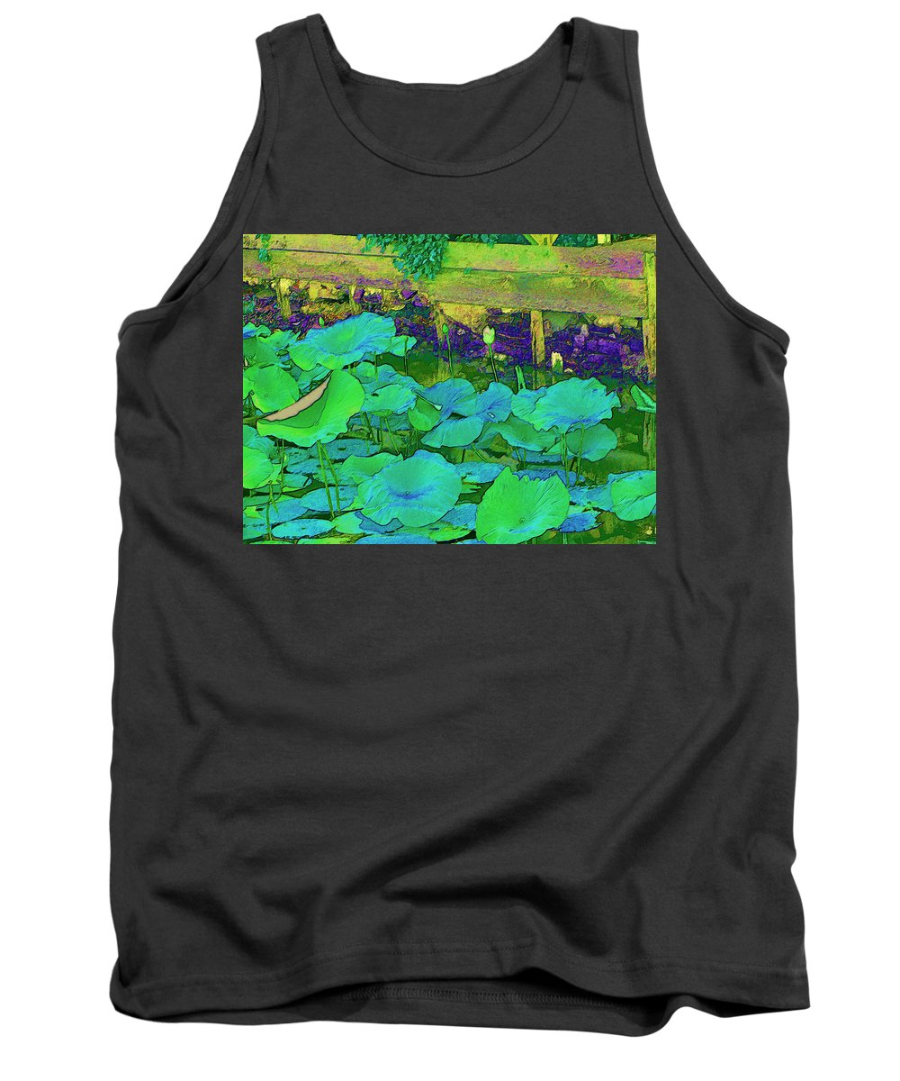 Lily Pads Tank Top featuring the digital art Lily Pads by Bonnie Willis