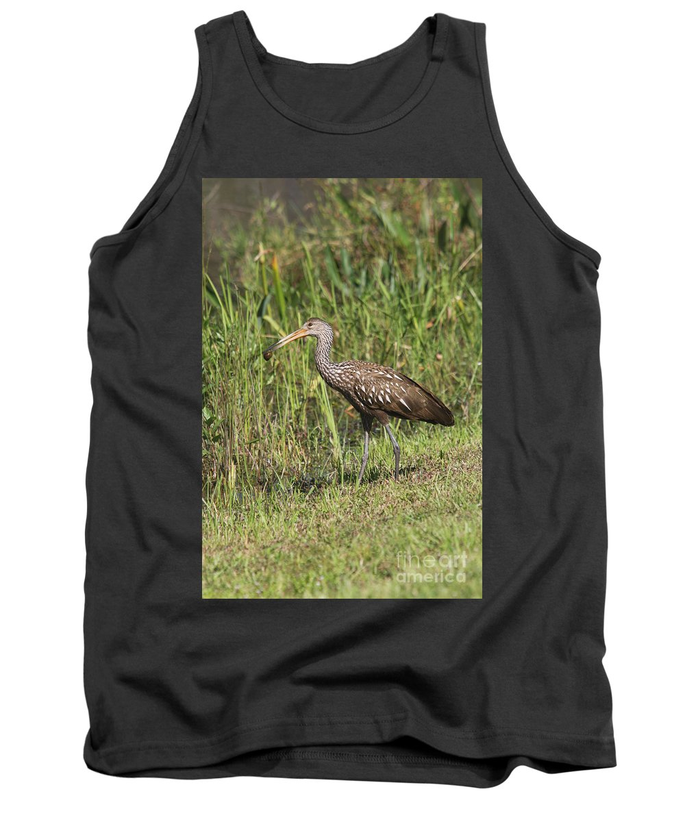 Limpkin Tank Top featuring the photograph Limpkin With Apple Snail by Christiane Schulze Art And Photography