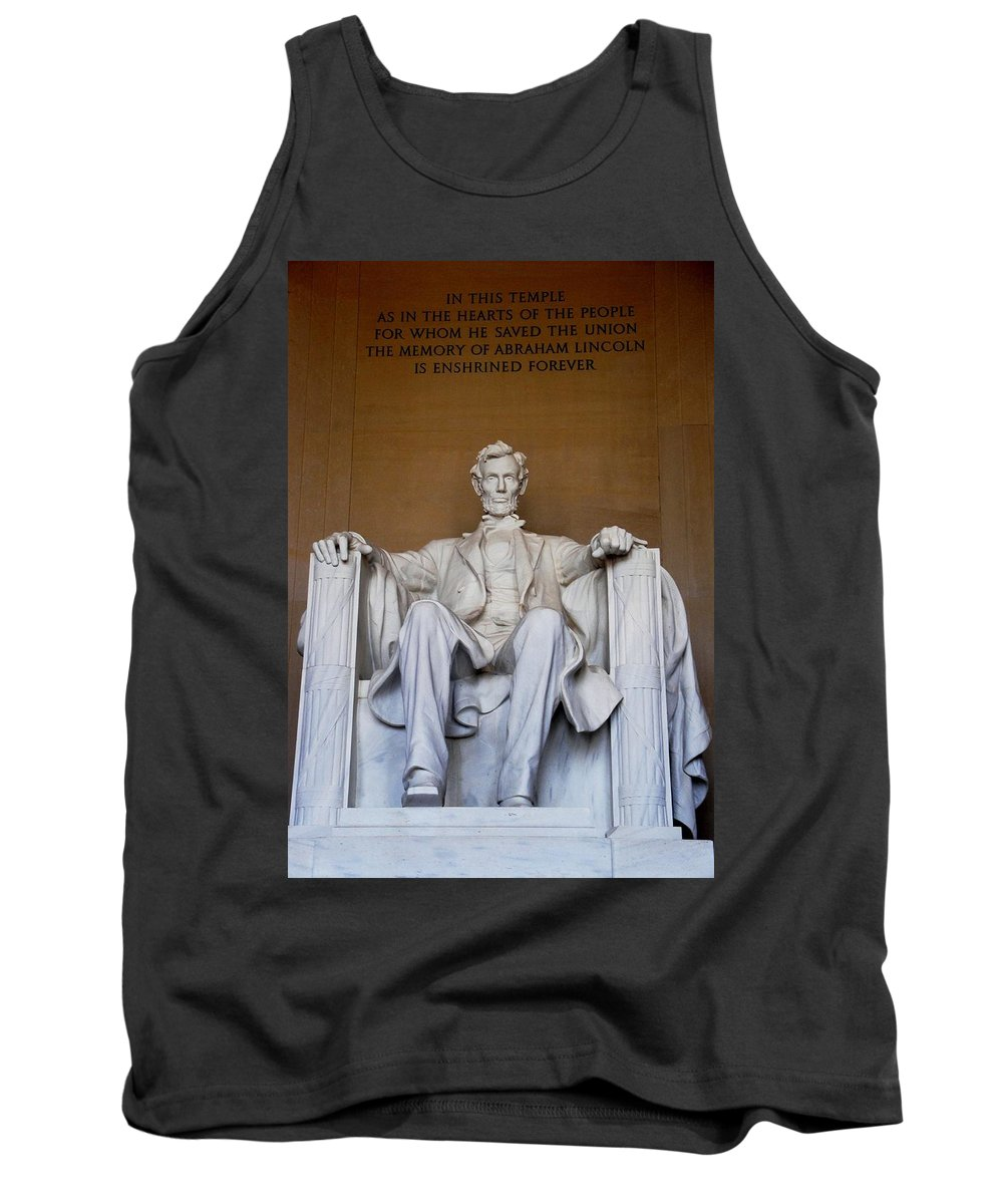 Lincoln Memorial Tank Top featuring the photograph Lincoln Memorial by Natalie Ortiz