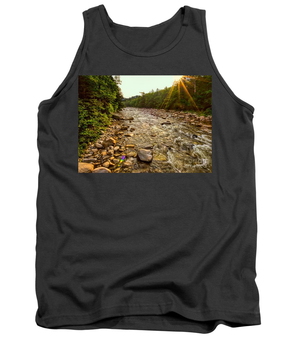 Lincoln Woods Tank Top featuring the photograph Lincoln Woods Sunstar by Jemmy Archer