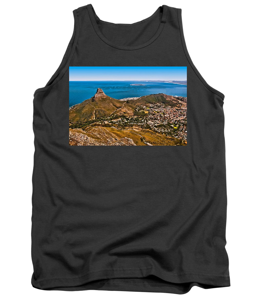 Africa Tank Top featuring the photograph Lion's Head by Maria Coulson