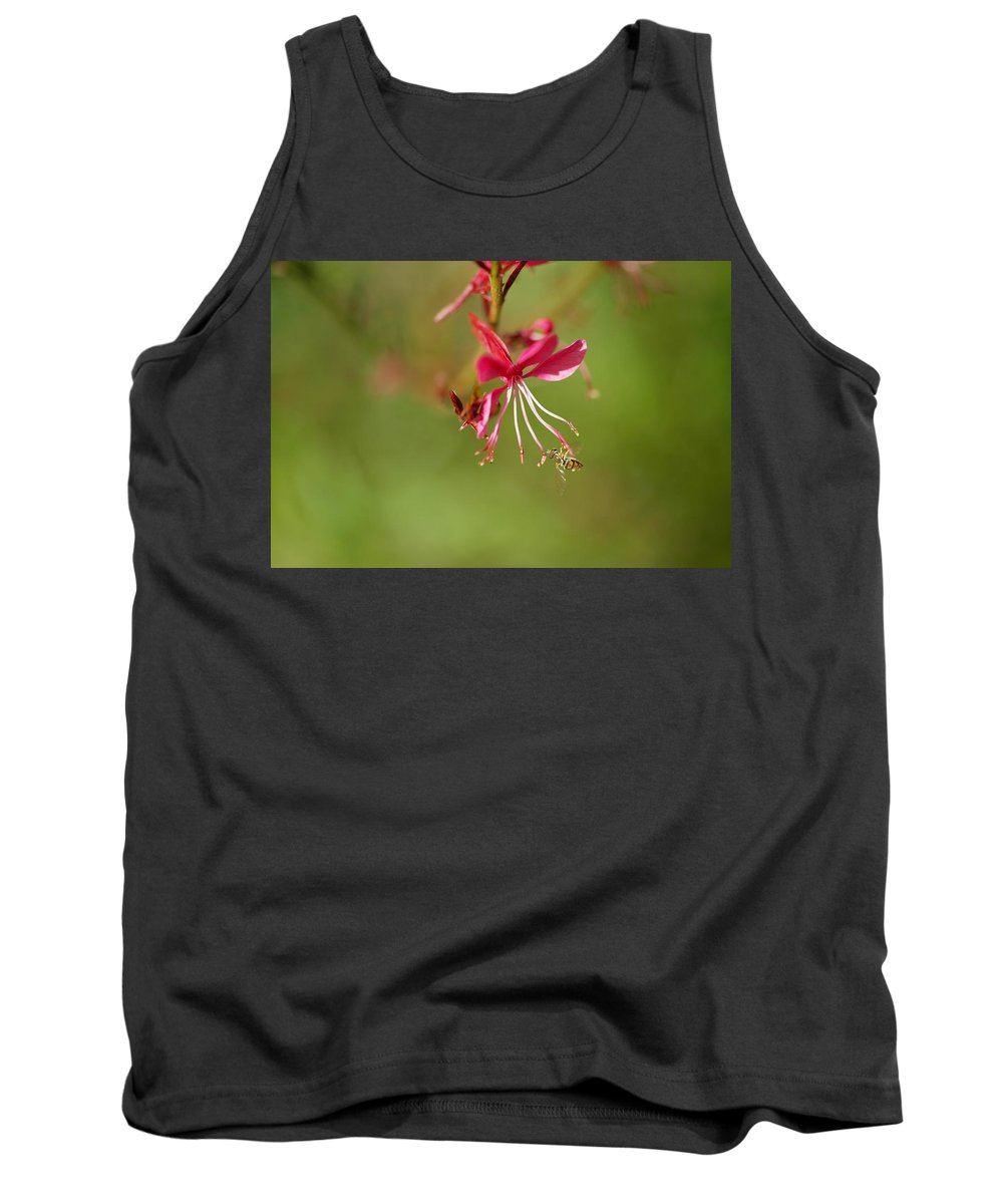 Insects Tank Top featuring the photograph Little Bug On The Tip Of A Flower by Jeff Swan