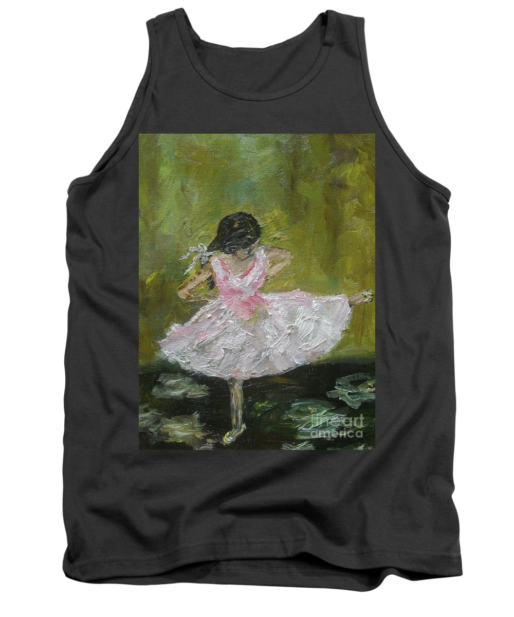 Girl Tank Top featuring the painting Little Dansarina by Reina Resto