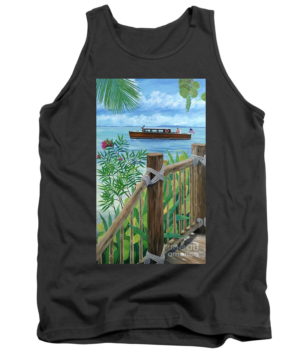 Island Tank Top featuring the painting Little Palm Island by Danielle Perry