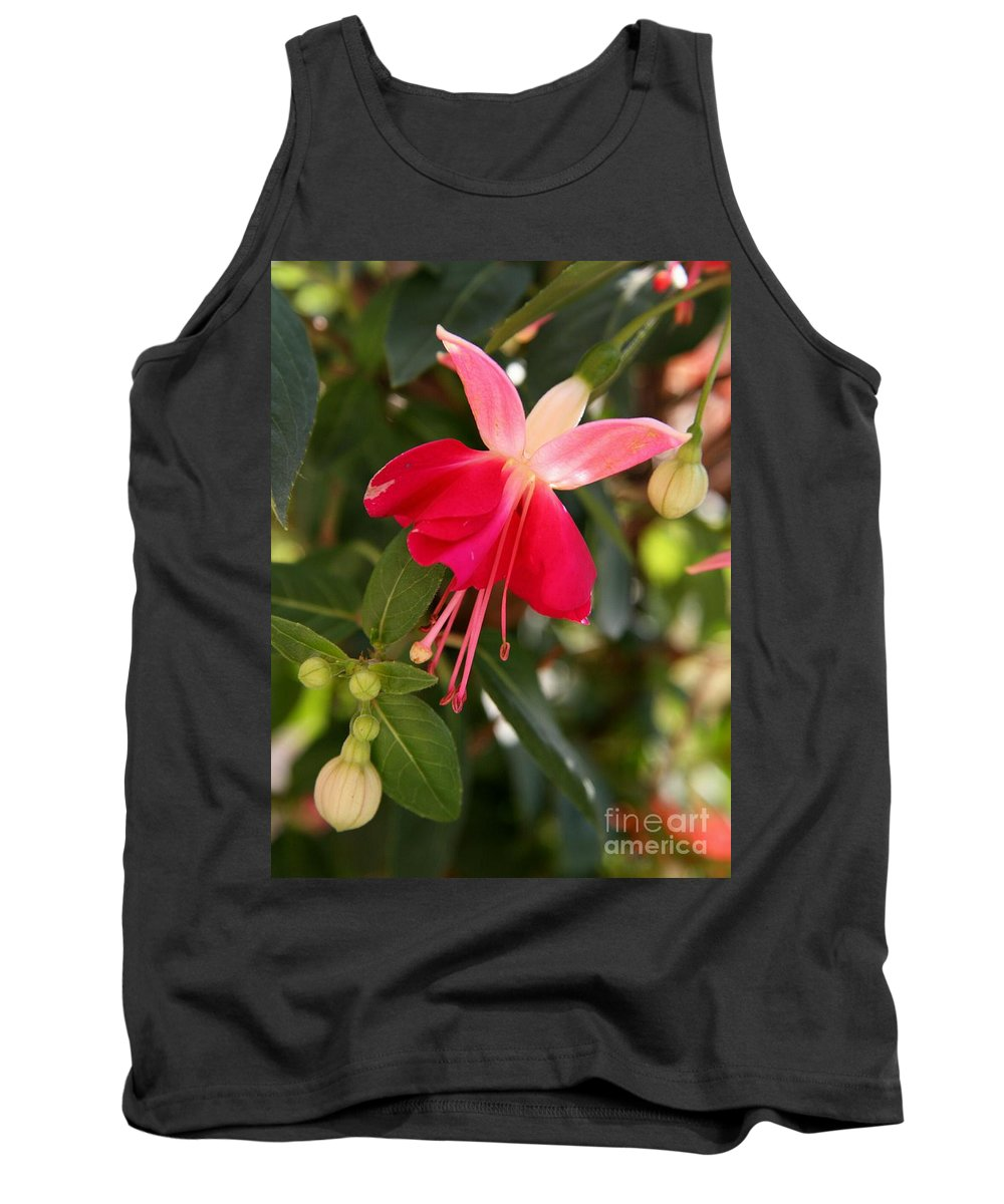 Fuchsia Tank Top featuring the photograph Little Red Skirt by Christiane Schulze Art And Photography