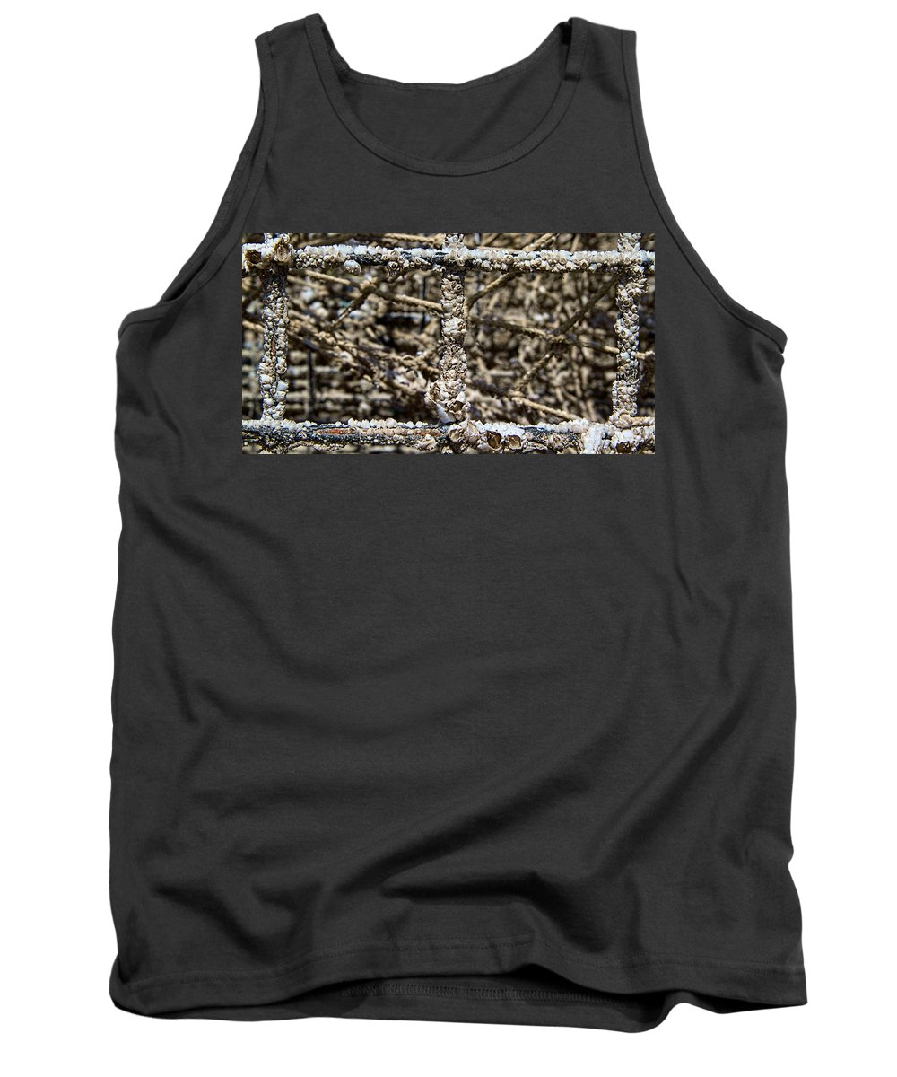 Lobster Tank Top featuring the photograph Lobster Trap by Natalie Rotman Cote