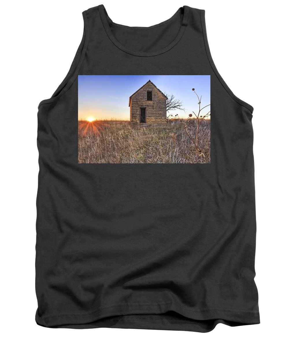 Kansas Landscape Tank Top featuring the photograph Lonely Homestead by Jill Van Doren Rolo