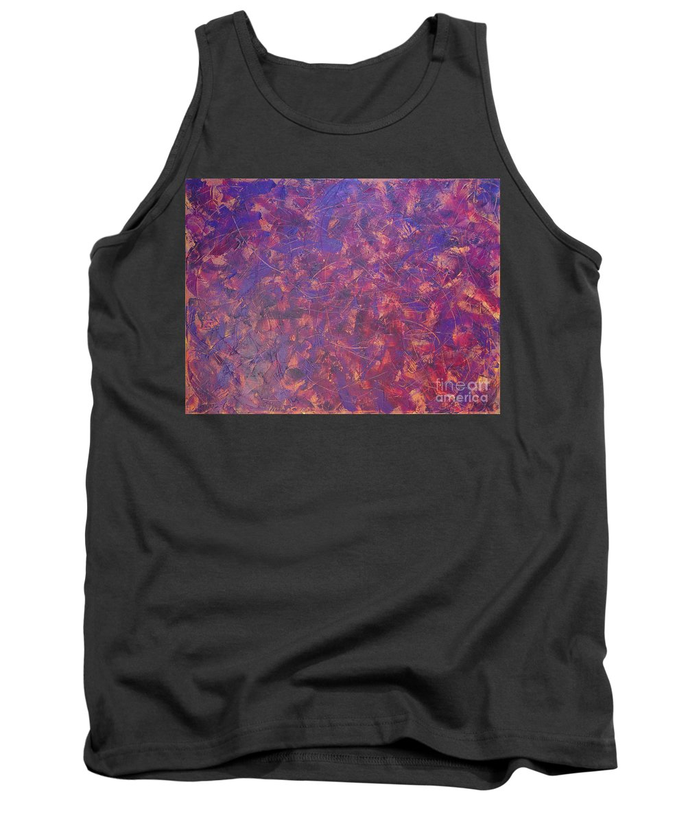 Abstract Tank Top featuring the painting Long Beach 5am by Dean Triolo