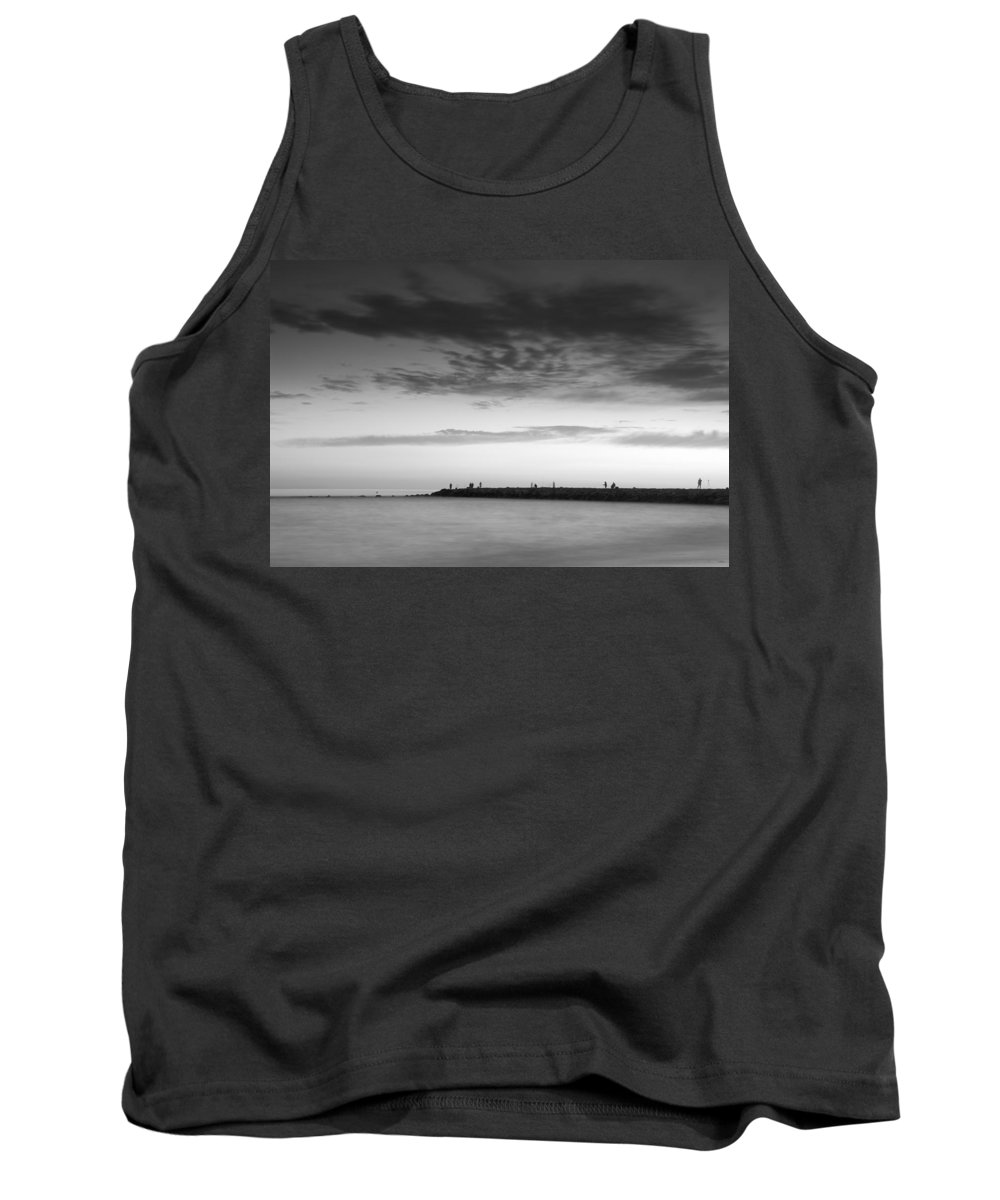 Mono Tank Top featuring the photograph Looking At The Seasunset by Guido Montanes Castillo