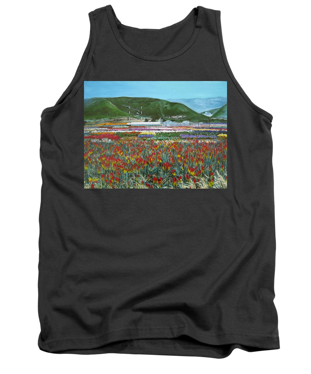 Flowers Tank Top featuring the painting Lookout Point by Angie Hamlin
