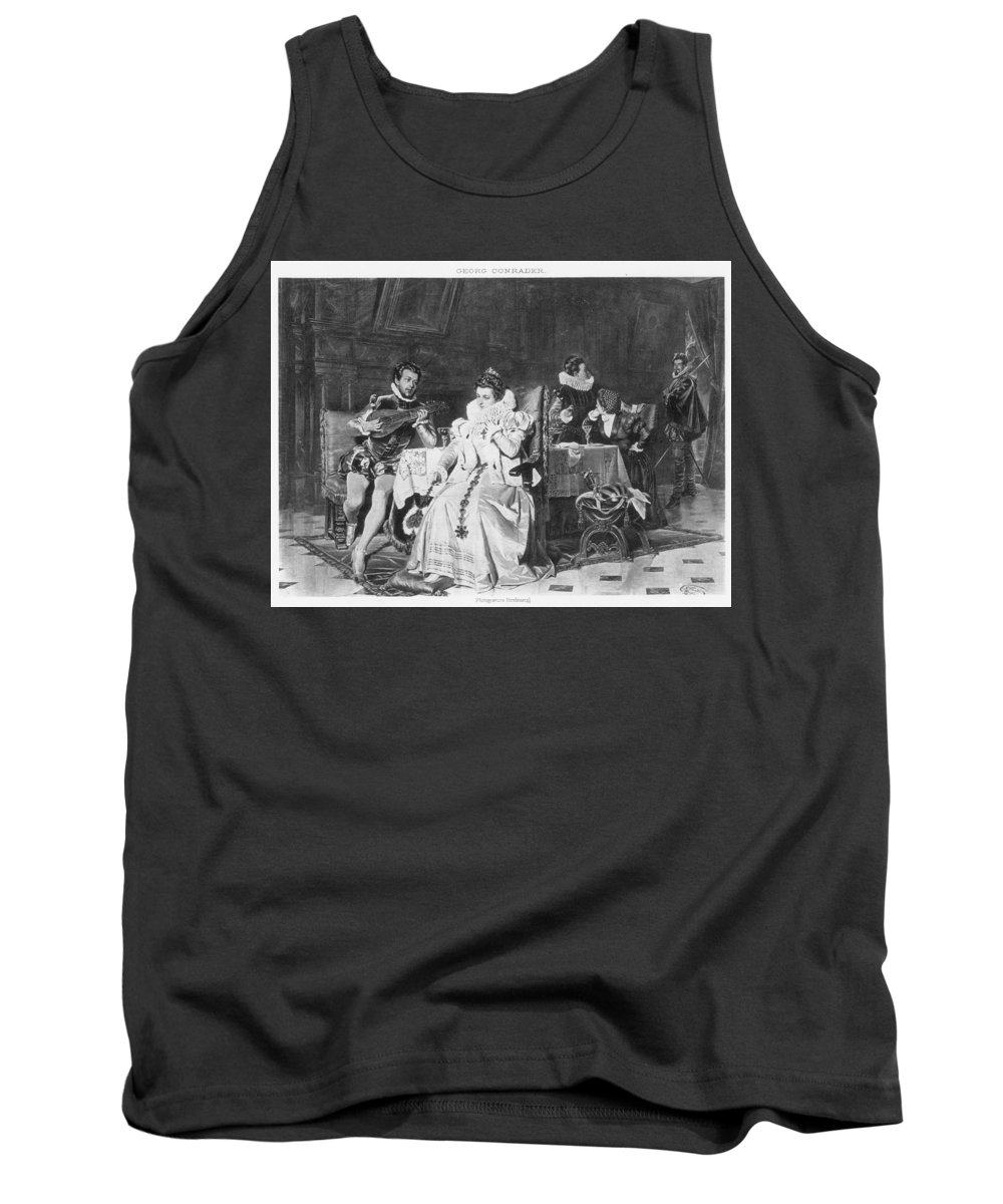 1566 Tank Top featuring the painting Lord Darnley/mary Stuart by Granger