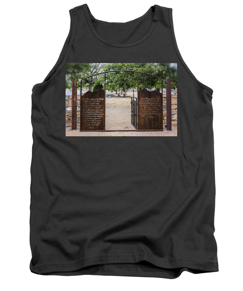 Southwest Tank Top featuring the photograph Lord's Prayer Hail Mary Gates 5184 by Brian King