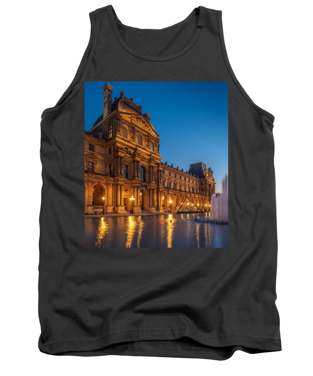 France Tank Top featuring the photograph Louvre Sunset by Mark Llewellyn