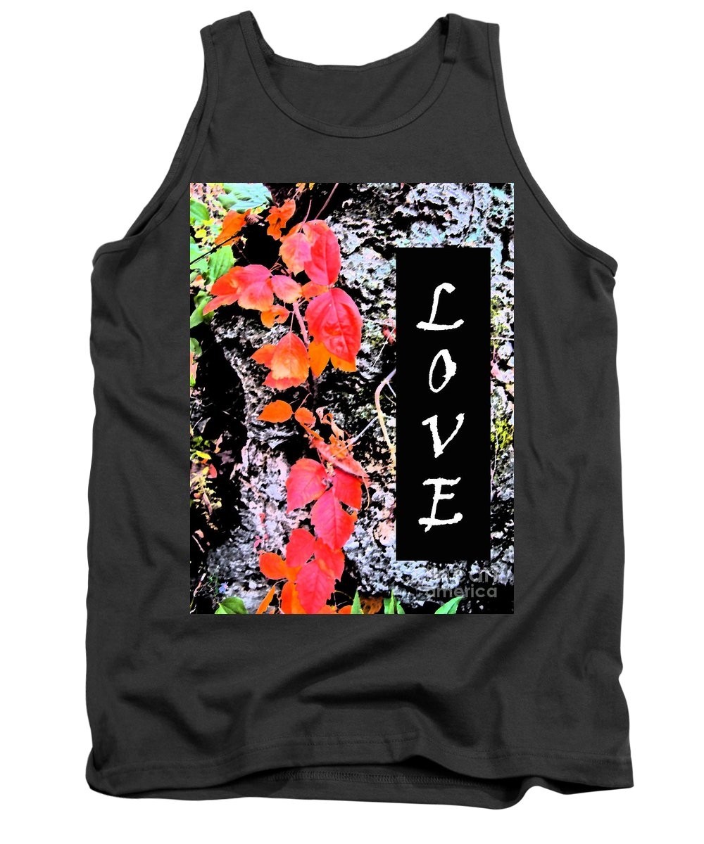 Love Tank Top featuring the photograph Love Fall White Edition by Minding My Visions by Adri and Ray