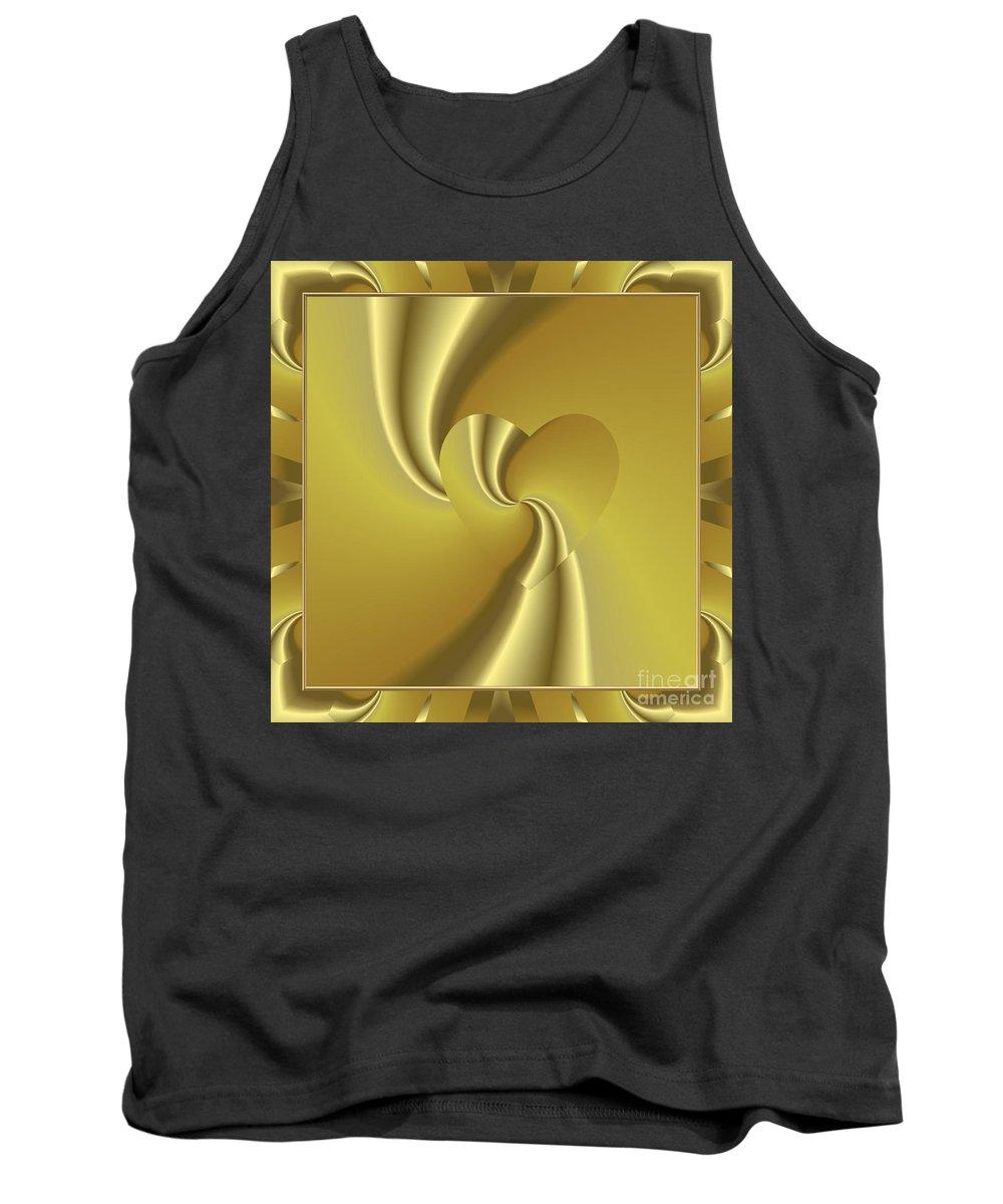 Golden Slumber Tank Top featuring the digital art Love In Disguise Loves Golden Slumber by Rose Santuci-Sofranko