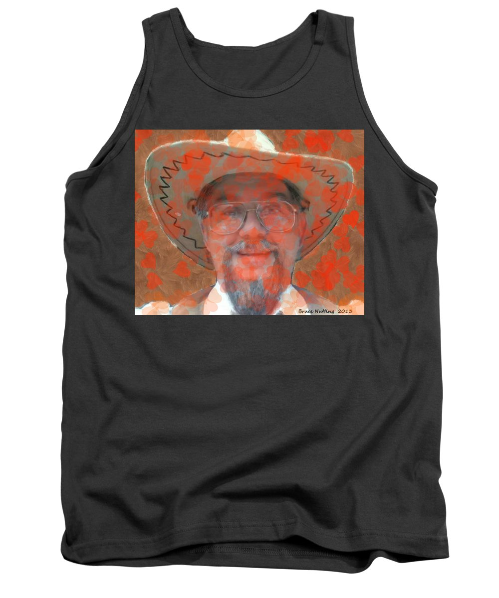 Red Tank Top featuring the painting Love Is In The Air by Bruce Nutting