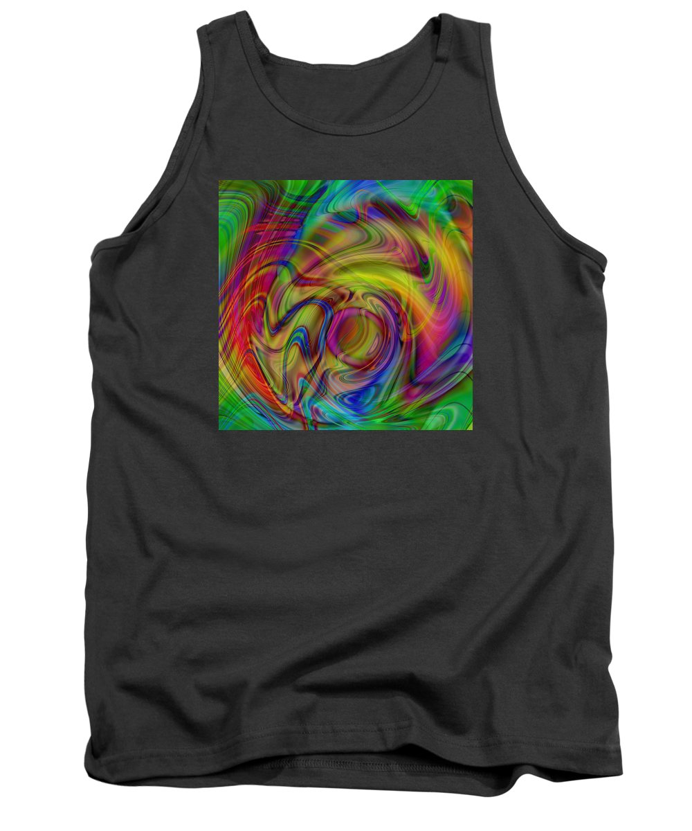 Love Tank Top featuring the digital art Love Is In The Air by Kevin Caudill