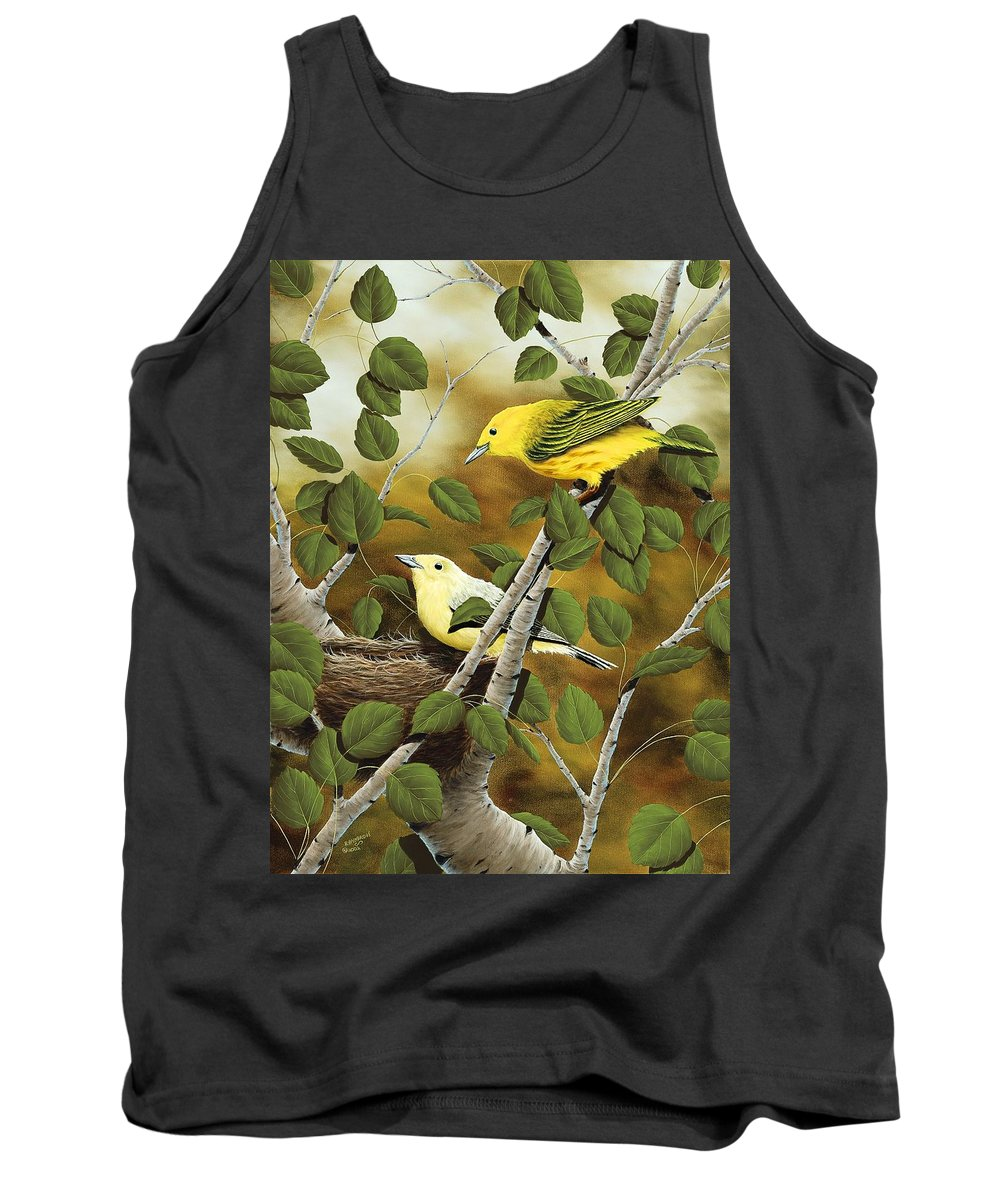 Animals Tank Top featuring the painting Love Nest by Rick Bainbridge
