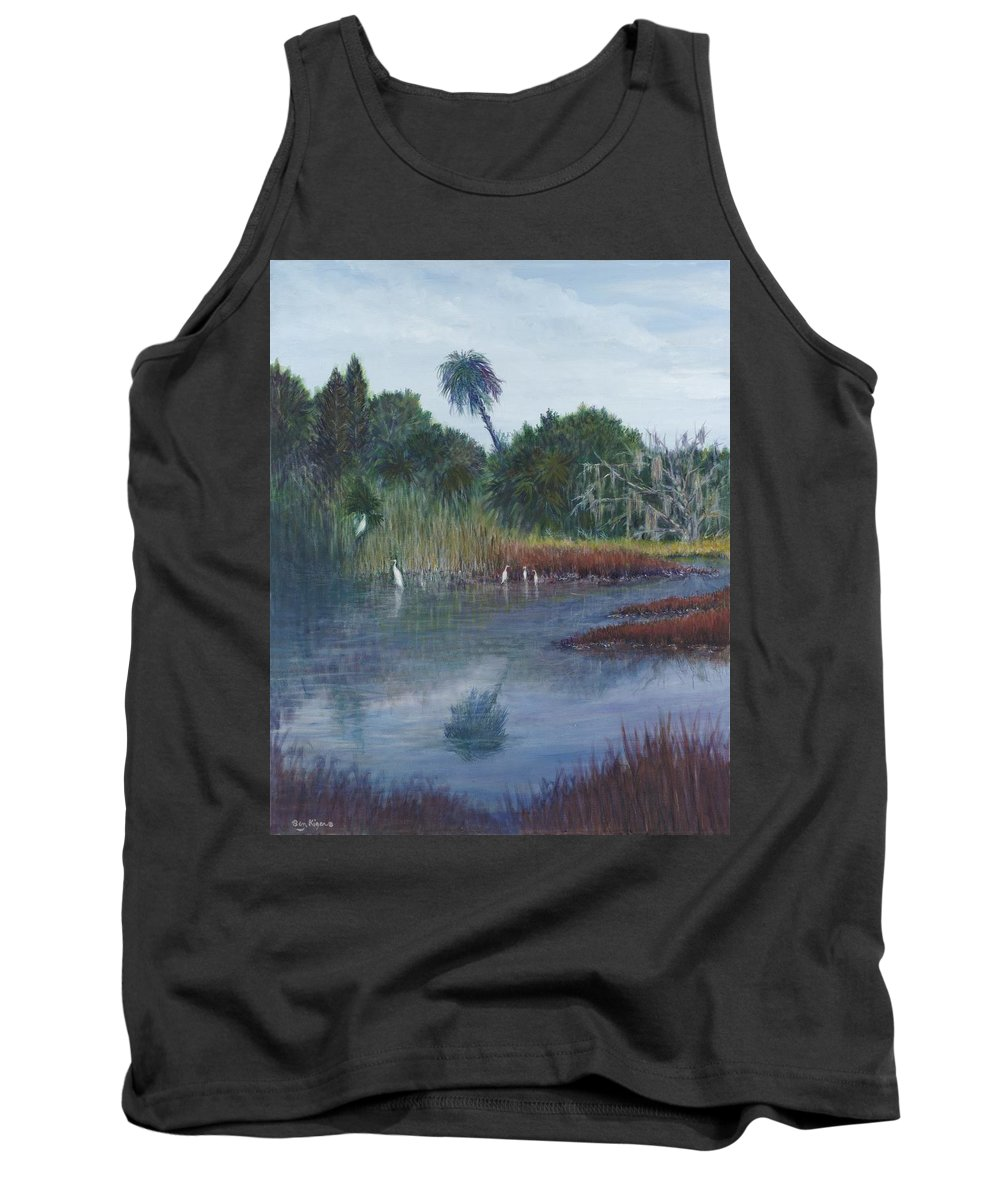 Landscape Tank Top featuring the painting Low Country Social by Ben Kiger