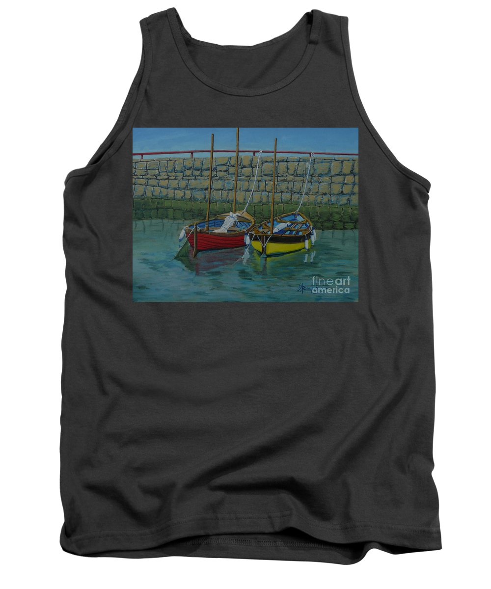 Rock Tank Top featuring the painting Low Tide by Anthony Dunphy