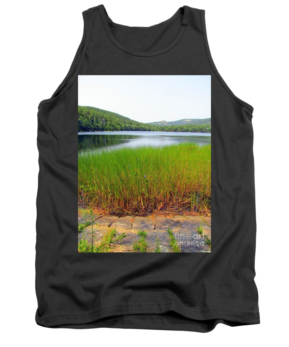 Hadlock Pond Tank Top featuring the photograph Lower Hadlock Pond by Elizabeth Dow