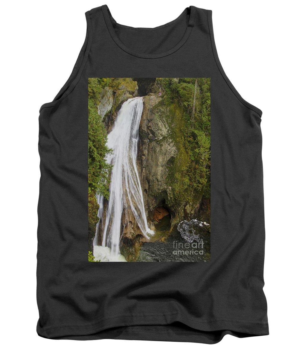 Landscape Tank Top featuring the photograph Lower Twin Falls by Darleen Stry