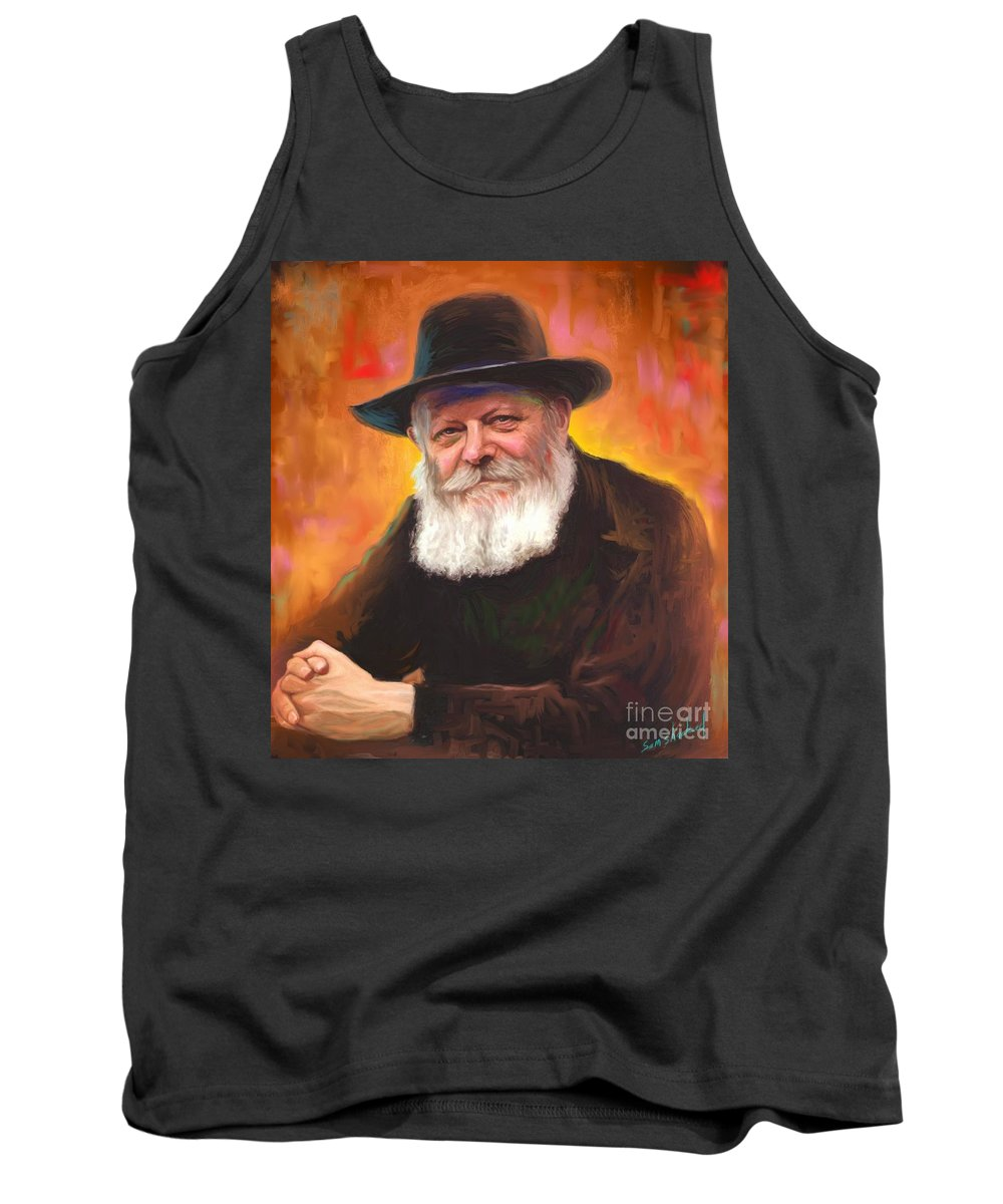 Lubavitcher Rebbe Tank Top featuring the painting Lubavitcher Rebbe by Sam Shacked