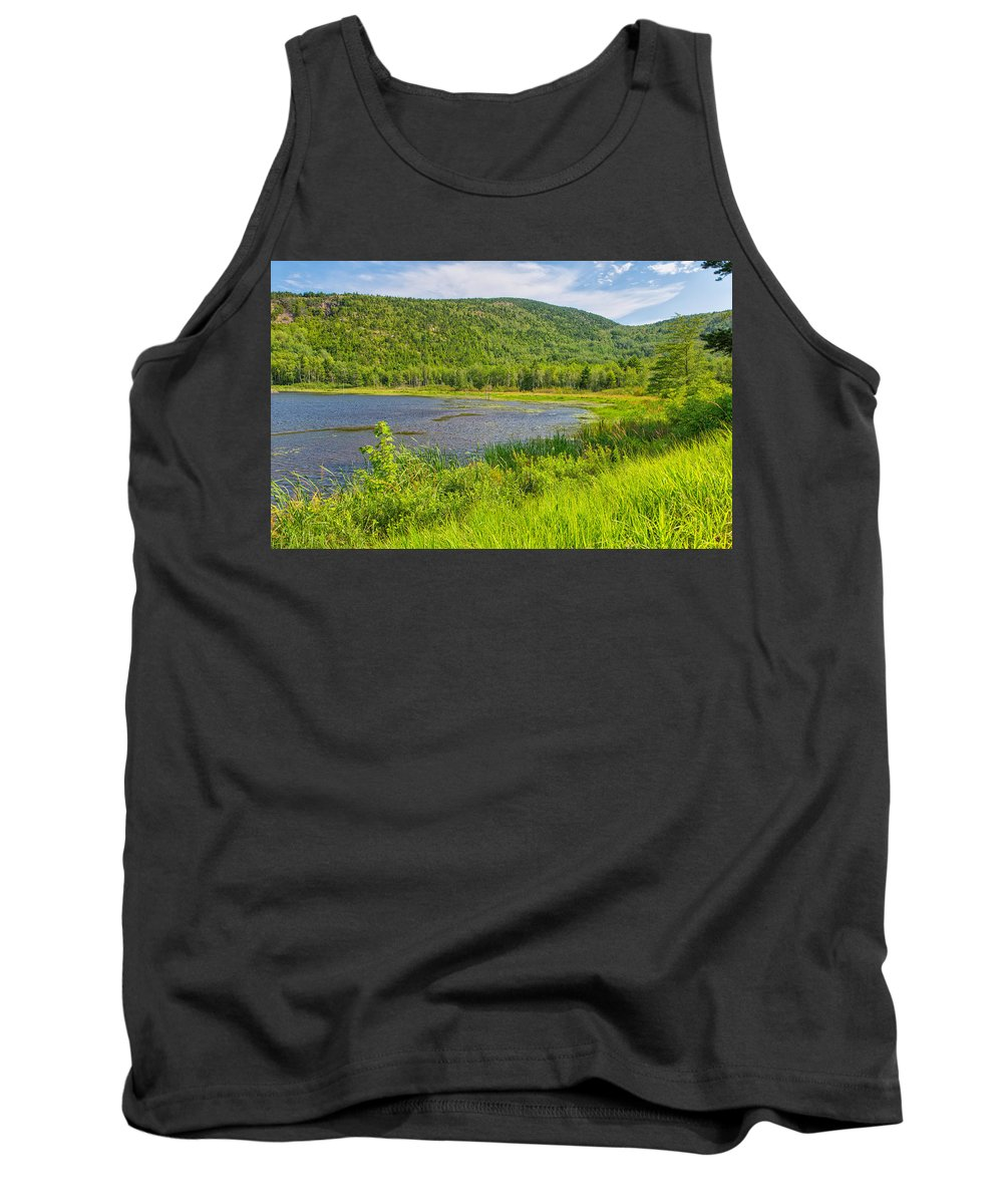 Landscape Tank Top featuring the photograph Lush Mount Desert Island by John M Bailey