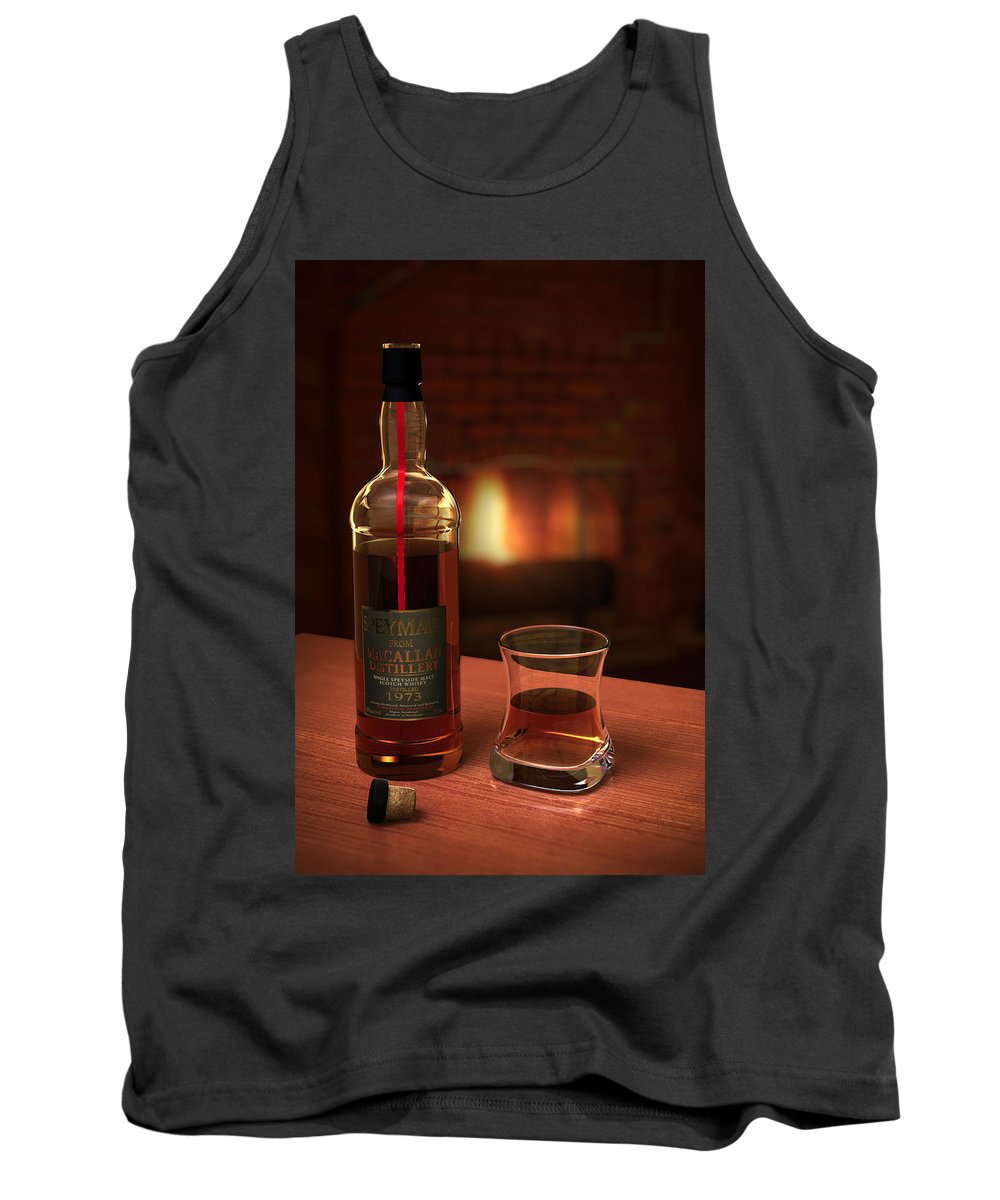3d Tank Top featuring the photograph Macallan 1973 by Adam Romanowicz