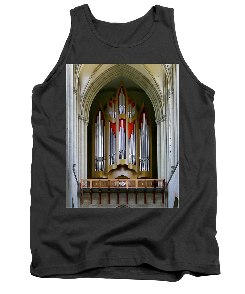 Magdeburg Tank Top featuring the photograph Magdeburg Cathedral Organ by Jenny Setchell