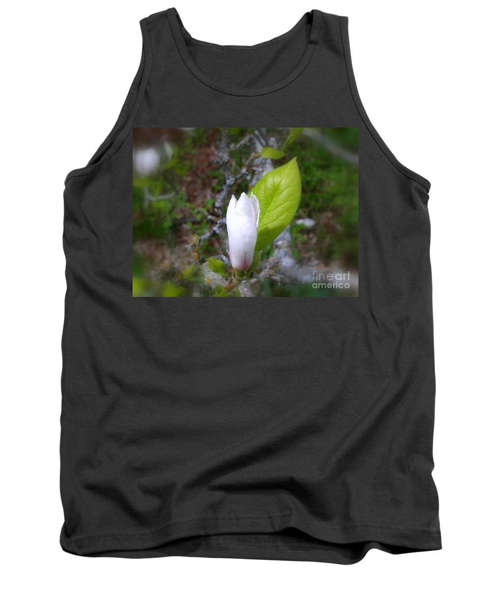 Magnolia Tank Top featuring the photograph Magnolia Bloom by Leone Lund