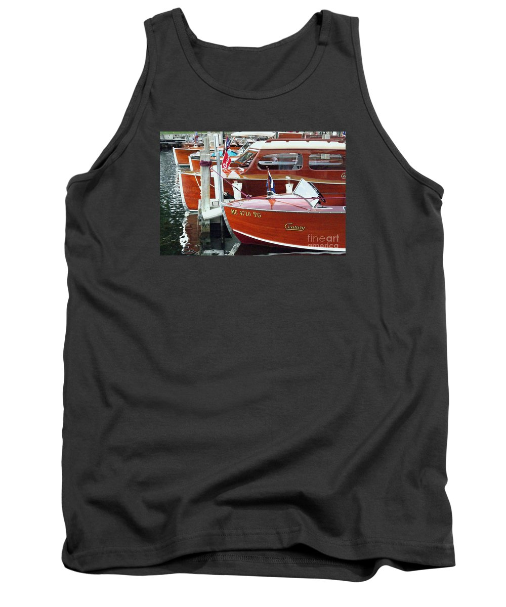 Century Boat Tank Top featuring the photograph Mahogany by Neil Zimmerman