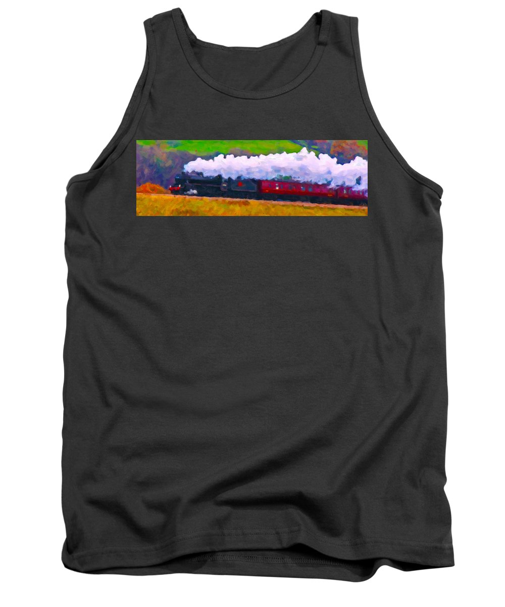 Poster Tank Top featuring the digital art Making The Grade by Chuck Mountain