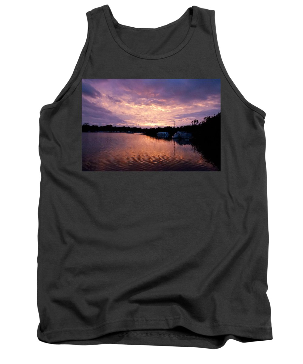 Norfolk Broads Tank Top featuring the photograph Malthouse Broad by Gavin Bates