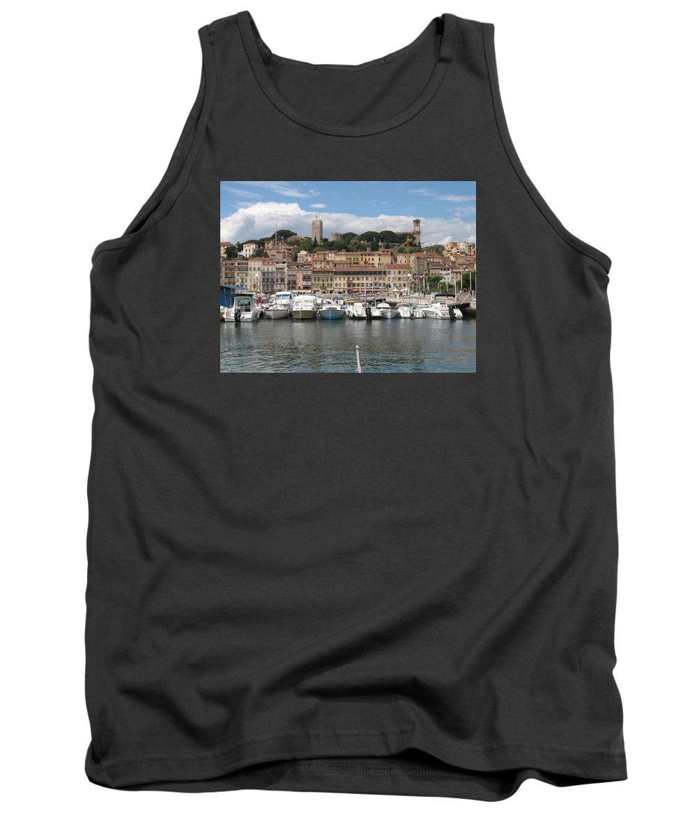 Marina Tank Top featuring the photograph Marina Cannes by Christiane Schulze Art And Photography
