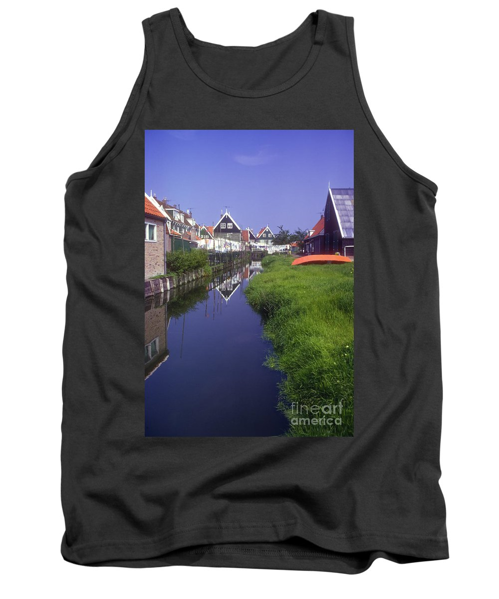 Marken Tank Top featuring the photograph Marken Canal by Bob Phillips