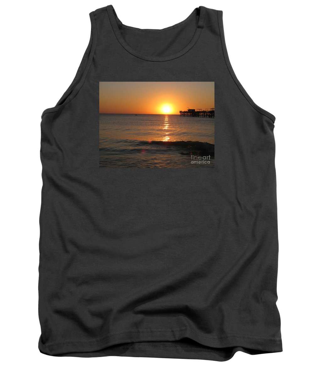 Sunset Tank Top featuring the photograph Marvelous Gulfcoast Sunset by Christiane Schulze Art And Photography