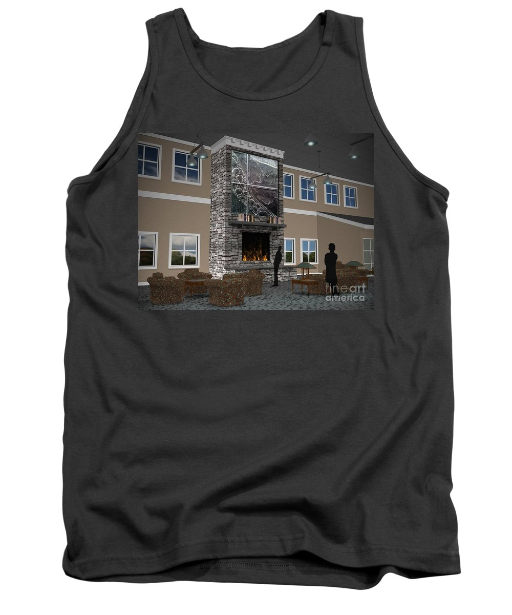Tank Top featuring the digital art Maryland Library Proposal by Peter Piatt