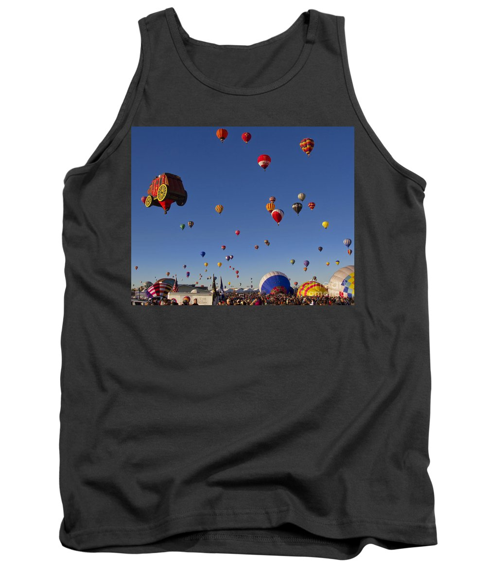 Mass Ascension Tank Top featuring the photograph Mass Ascension by Gary Holmes