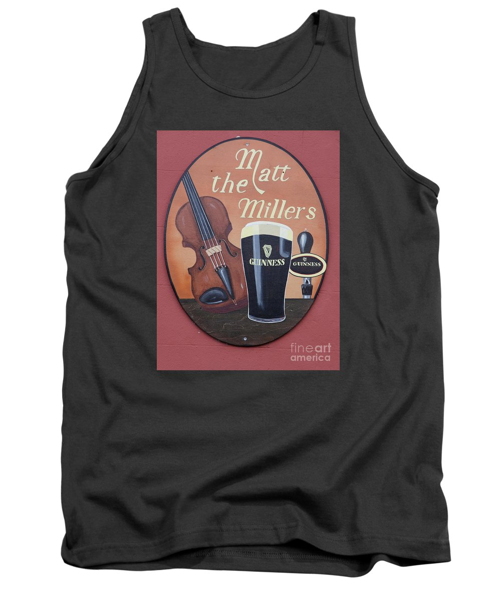 Matt The Millers Tank Top featuring the photograph Matt The Millers Pub Sign by Christiane Schulze Art And Photography