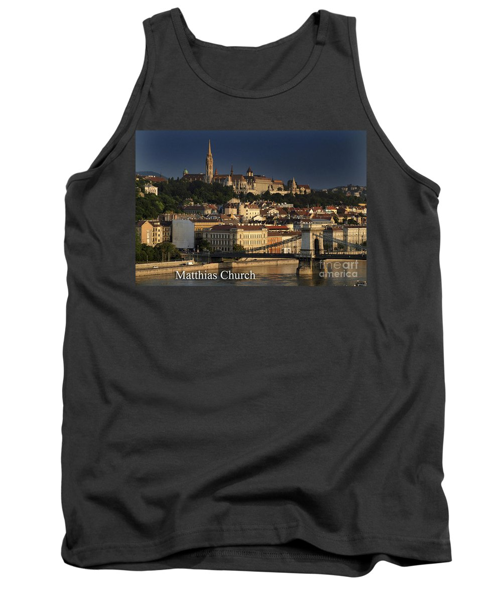Budapest Tank Top featuring the photograph Matthias Church At Sunrise Budapest Hungary by Howard Stapleton