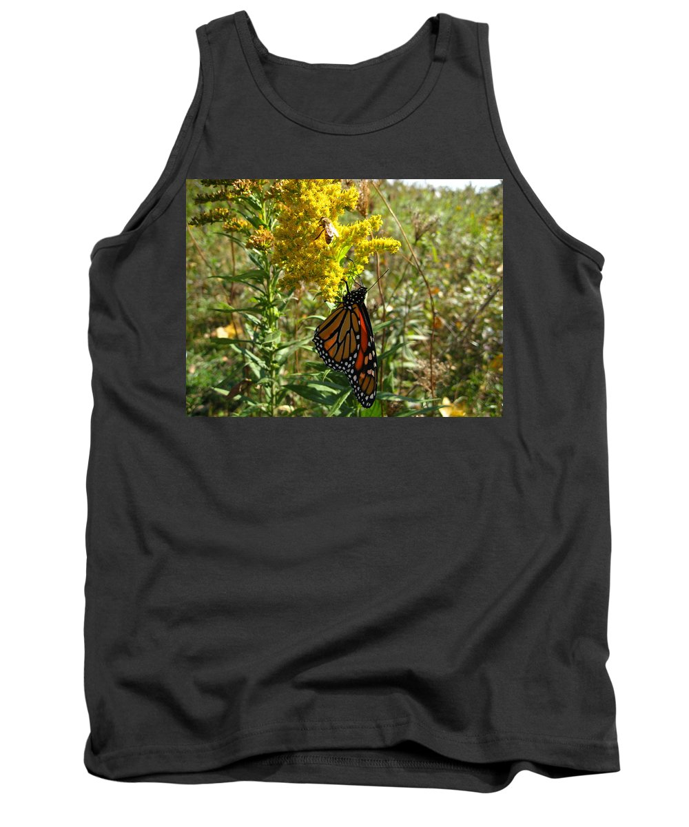 Monarch Butterfly Tank Top featuring the photograph Me And The Bee by David Mayeau