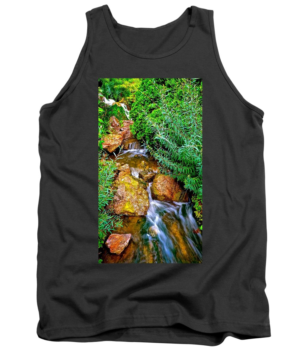 Waterfalls Tank Top featuring the photograph Meandering Flow by Tim G Ross