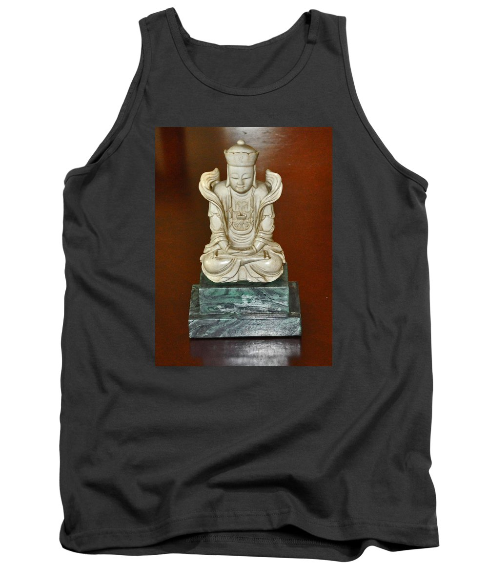 Chinese Tank Top featuring the photograph Chineses Meditation by Jay Milo