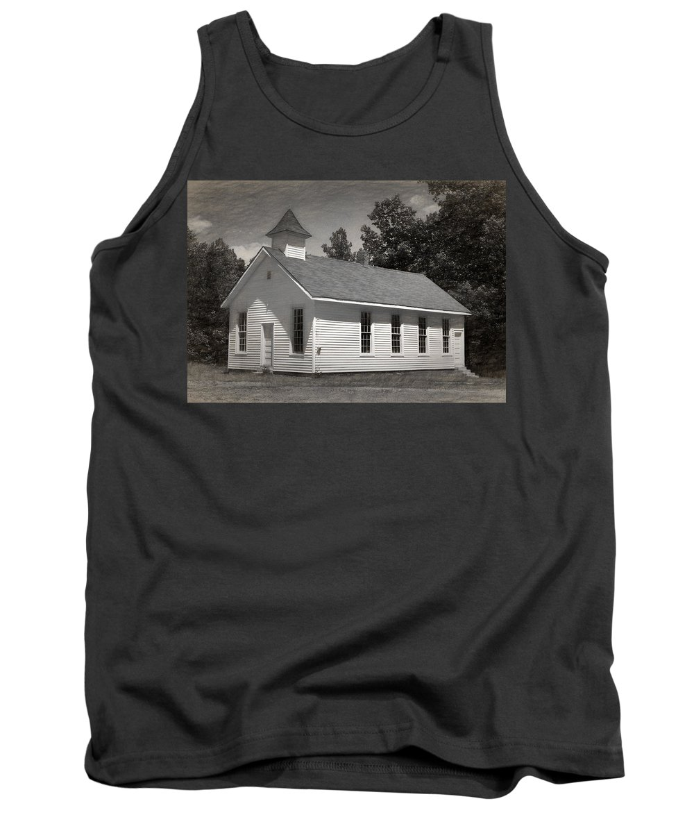 Abandoned Tank Top featuring the photograph Meeting House by Richard Rizzo