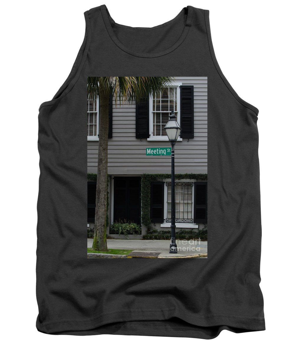 Meeting St Tank Top featuring the photograph Meeting St by Dale Powell