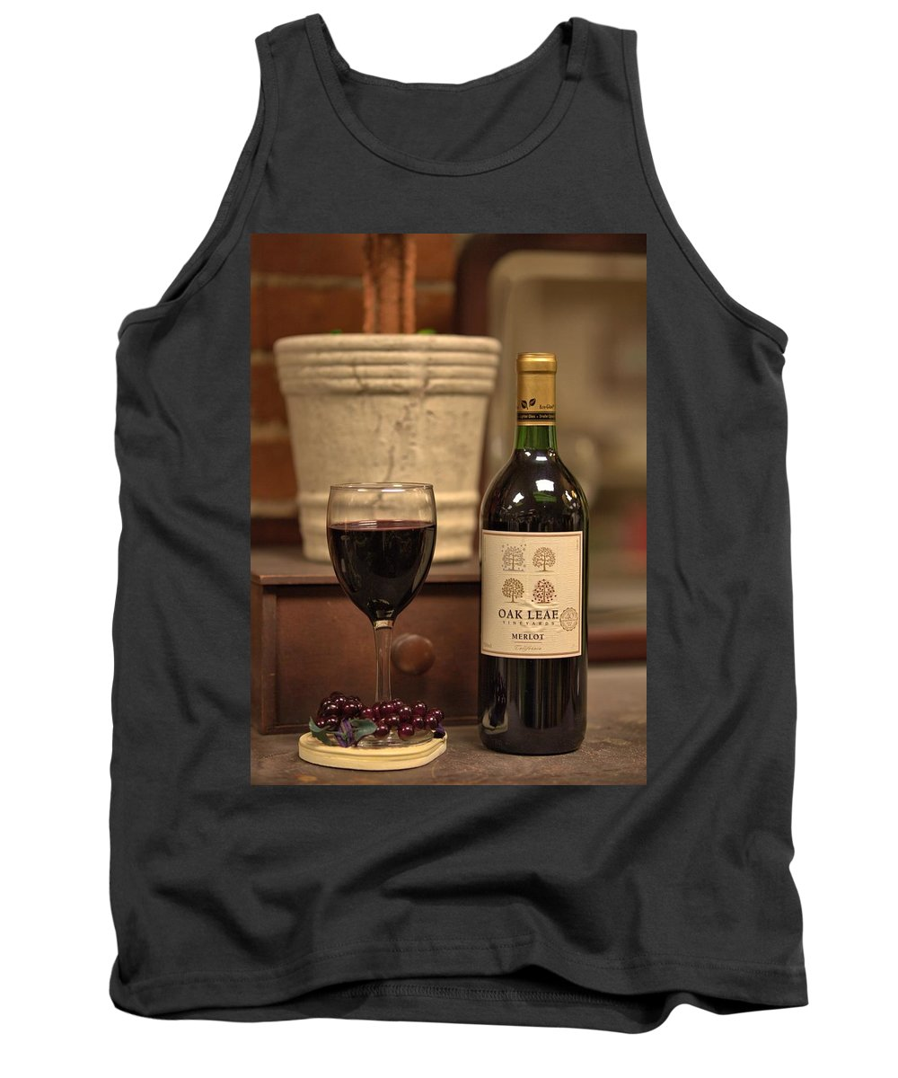 7398 Tank Top featuring the photograph Merlot by Gordon Elwell