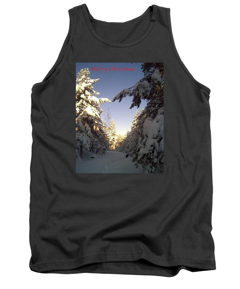 Christmas Tank Top featuring the photograph I Wish You A Merry Christmas From My Winter Wonderland by Hilde Widerberg