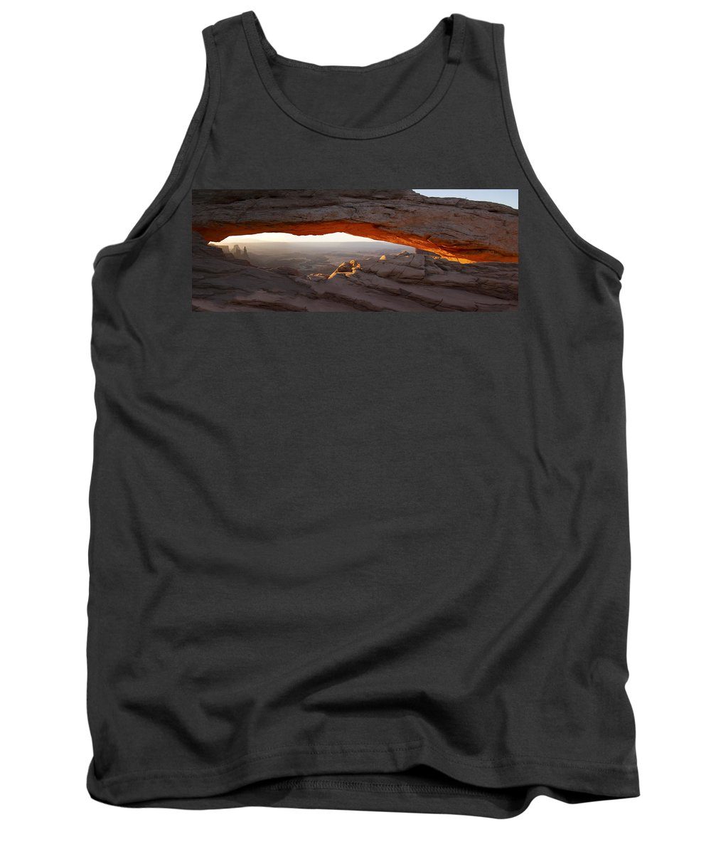Mesa Arch Tank Top featuring the photograph Mesa Arch Sunrise by Debby Richards
